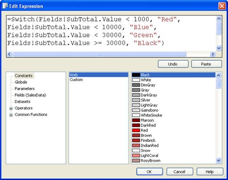 More conditional formatting in SSRS | Joe Webb Blog
