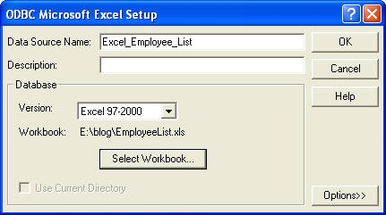 Using Excel as a Reporting Services datasource   Joe Webb Blog